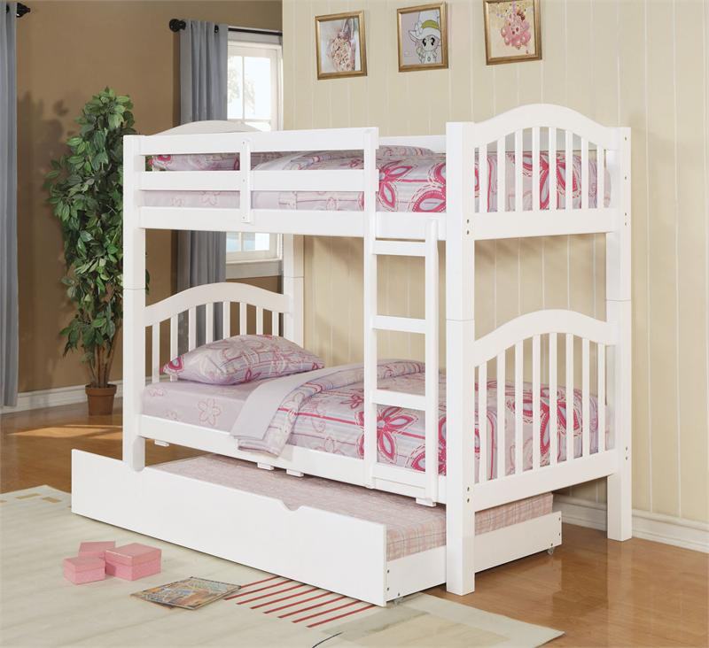 Concord white wood twin bunk bed bunk beds for sale for White twin beds for sale