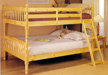 Full Over Full Wood Bunk Bed