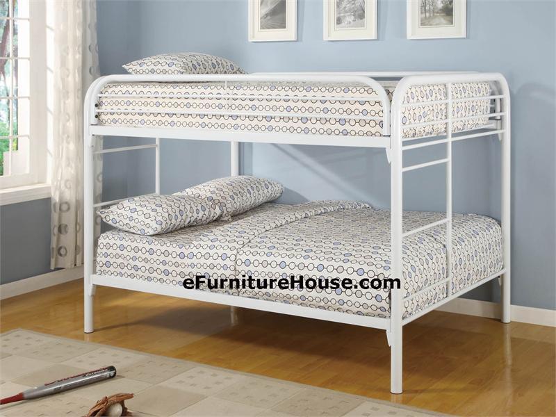 white metal full over full size bunk bed. Black Bedroom Furniture Sets. Home Design Ideas