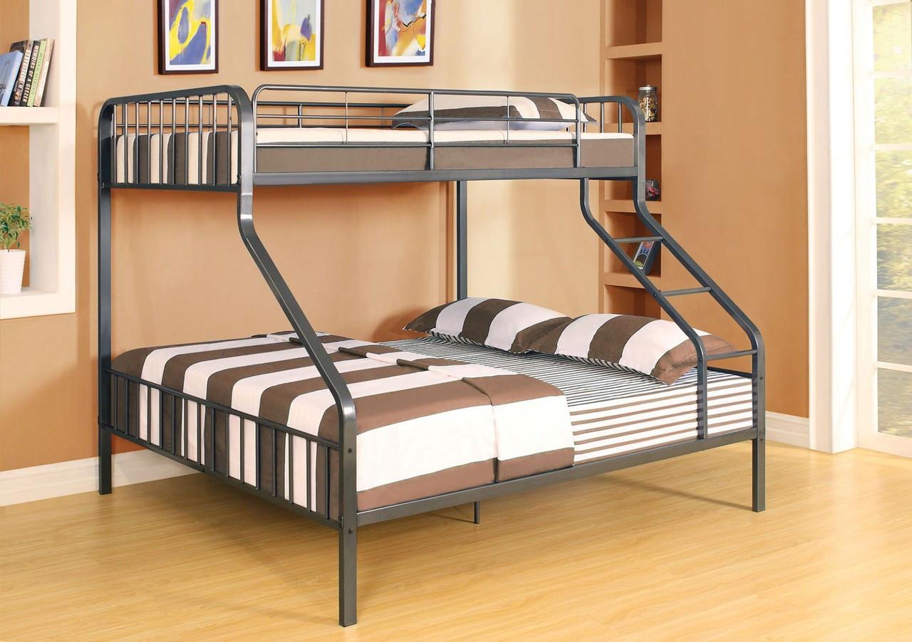 riggs twin xl over queen metal bunk bed metal bunk beds. Black Bedroom Furniture Sets. Home Design Ideas