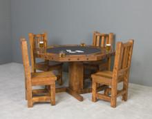 Barnwood Octagon Poker Table in Honey Pine Stain