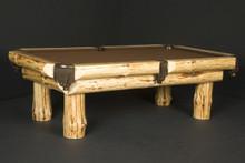 Klondike Log Billiard Pool Table