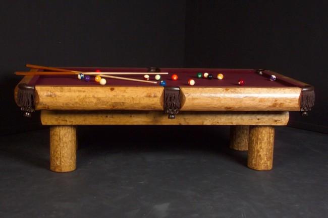 Ponderosa Rustic Pine Log Billiard Pool Table