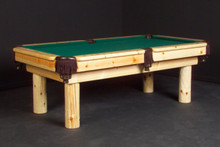 Log Clear Lacquer Billiard Pool Table