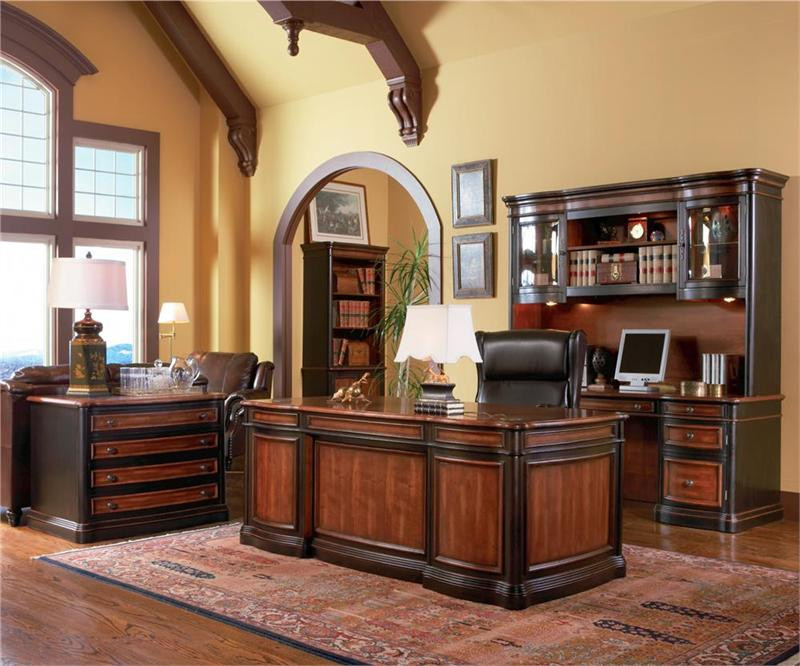 Brown Cherry Executive Office Desk ...