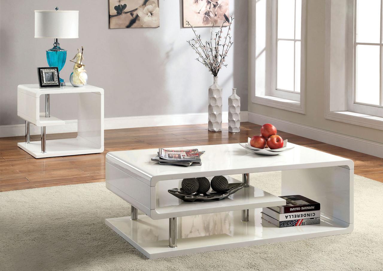 Valentia white gloss chrome coffee table white gloss chrome coffee table set geotapseo Image collections