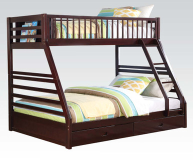 bradford extra long twin queen bunk bed with drawers. Black Bedroom Furniture Sets. Home Design Ideas
