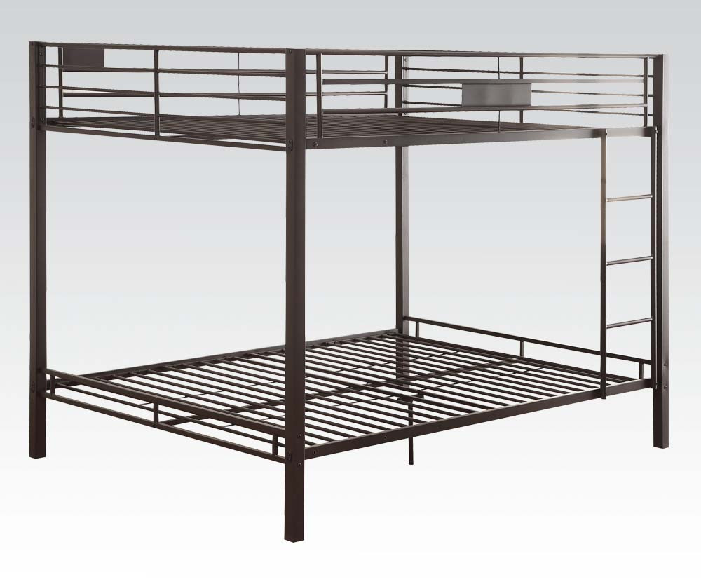 Black Queen Over Queen Bunk Bed