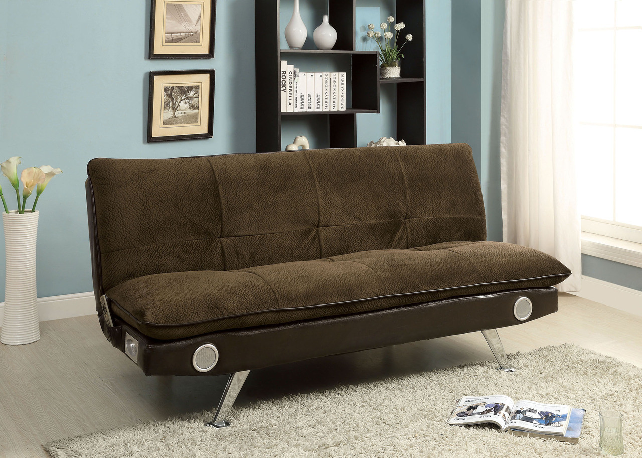 fabric brown convertible futon sofa bed     gallagher fabric convertible futon sofa bed  rh   efurniturehouse