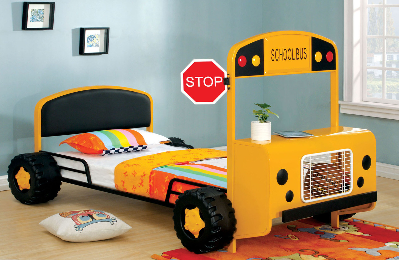 Decker Twin Yellow School Bus Bed Frame Theme Beds
