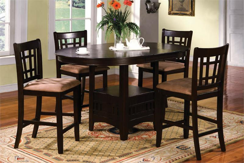 Metropolis Espresso Counter Height Dining Table \u0026 Chairs : espresso table set - pezcame.com
