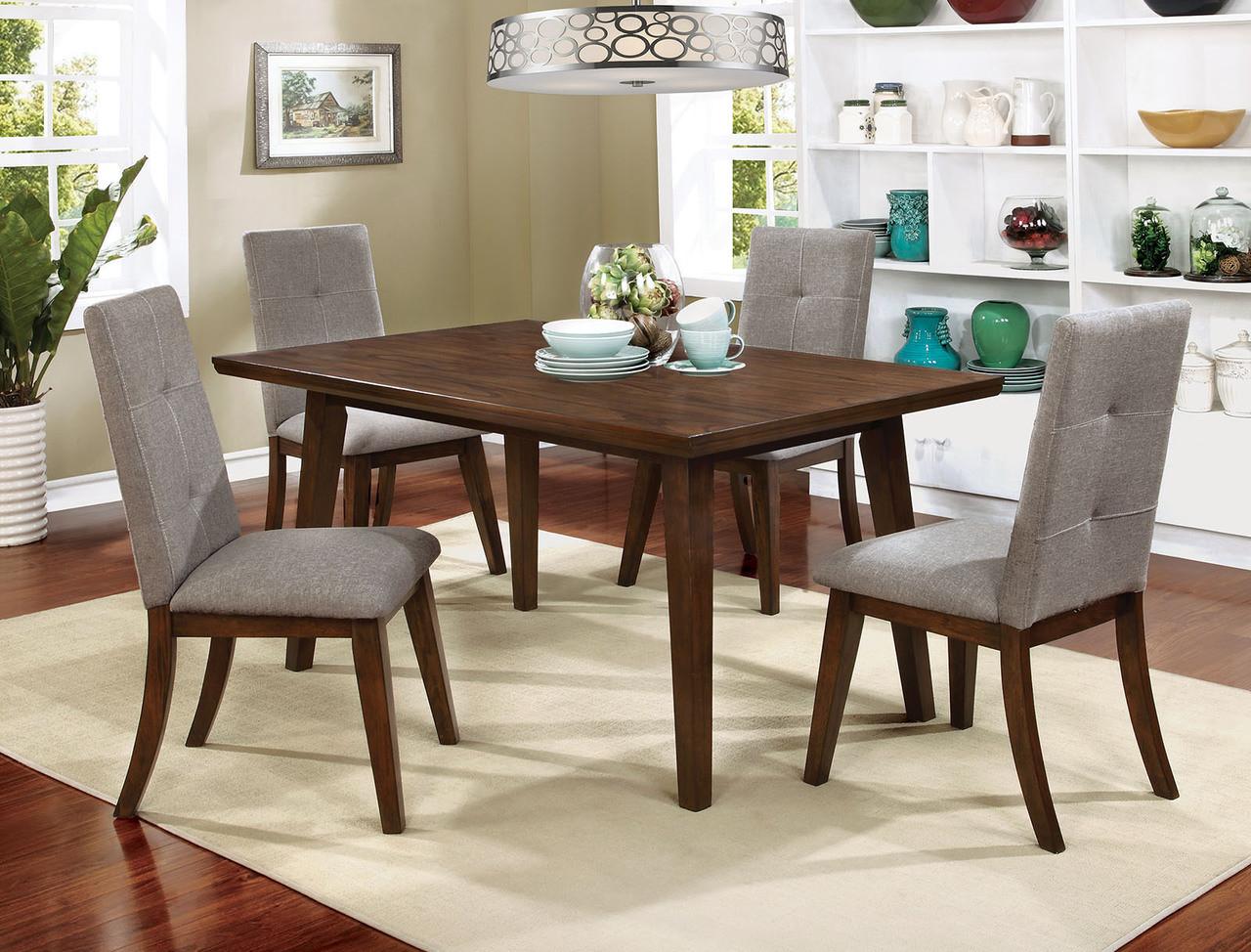 Furniture of America Walnut Dining Table Set | CM3354T
