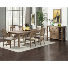 Aspen Antique Natural Dining Table with 6 Chairs