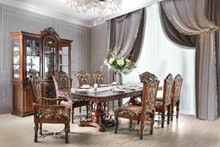 Furniture of America CM3788T Dining Table Set