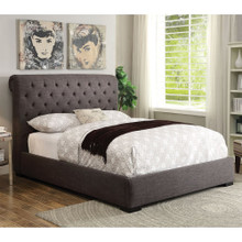 Westmist Light Brown Linen Queen Bed | Contemporary Bed