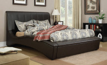 Matthew Espresso Leatherette Queen Bed | ACME Furniture 24630