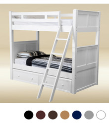 Extra Long Twin Bunk in White