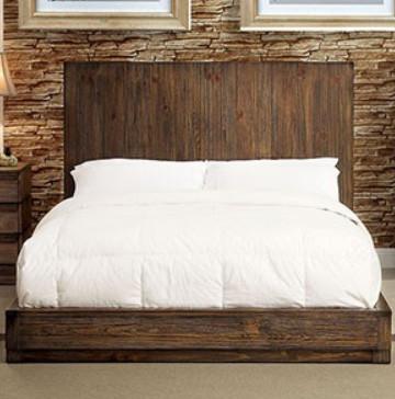 Amarante Modern Flat Panel Low Profile Platform Bed