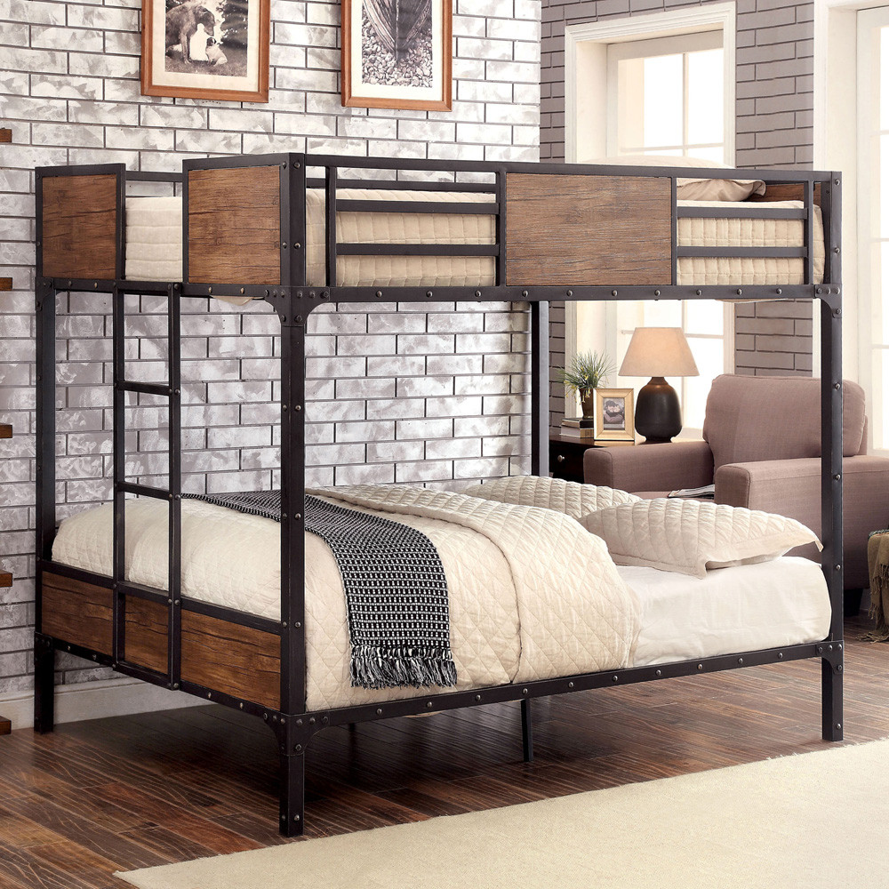 Austin Industrial Inspired Metal Full Size Bunk Bed