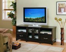 Wide Cappuccino Plasma TV Video Console