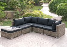 Lizkona 417 Outdoor Patio 5-Pcs Sectional Sofa Set by Poundex | Outdoor Sectional Set