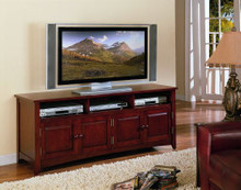 Wide Cherry Plasma TV Video Console Cabinet
