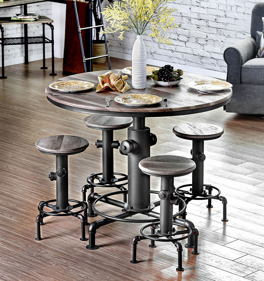 Fire Hydrant Inspired 45  Round Counter Height Table Set | Counter Height Set ... & Fire Hydrant Inspired 45