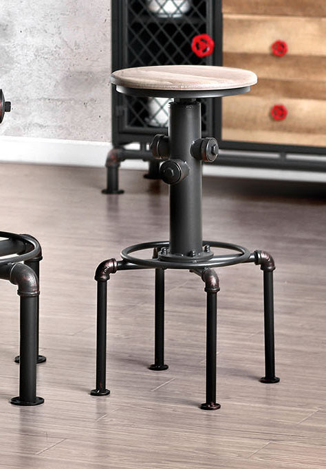 Fire Hydrant Themed Metal Bar Stools | Elegant Industrial Themed Bar Stools