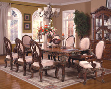 "Abbyville 108"" Cherry Extendable 9 PC Dining Table Set for 8"