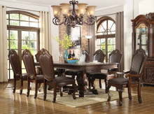 "Alexandria Bay 96"" Brown Cherry Extendable 9 PC Dining Set 