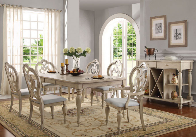 antique white dining room set. abelin antique white dining table set | country room