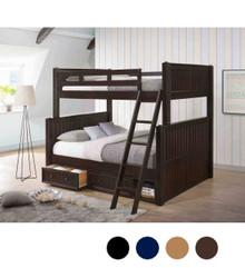 Dillon XL Full over Queen Bead-Board Bunk Bed