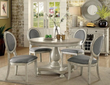 Kathryn Antique White Dining Table with Chairs | Furniture of America CM3872WH-RT