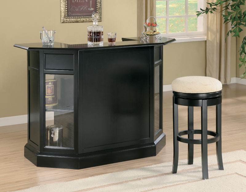 Anavia Modern Black Home Bar Counter