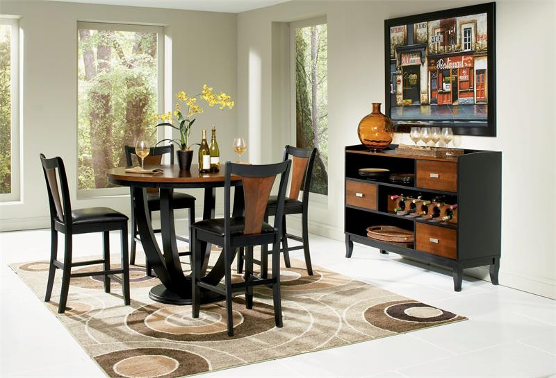Charmant Margate Contemporary Round Counter High Dining Table Set