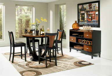 47 margate contemporary round counter high dining table set