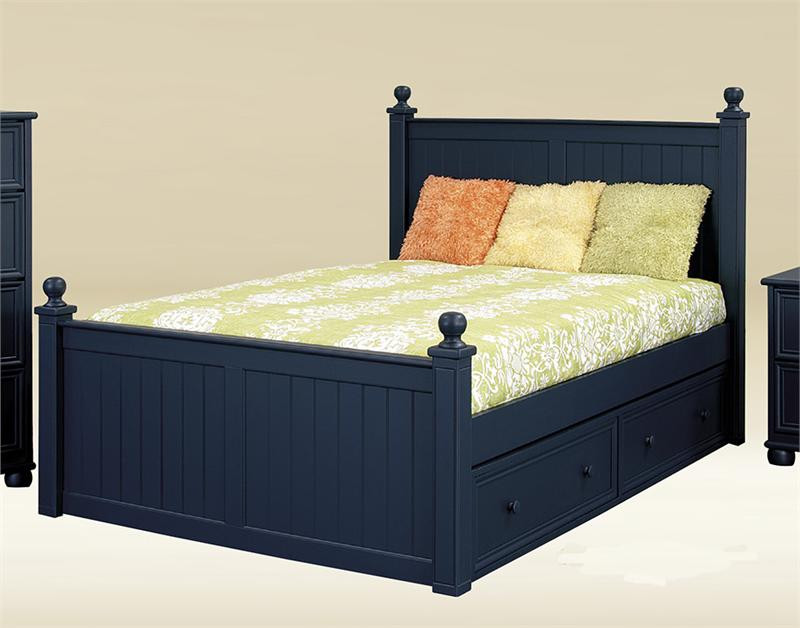 Bentley Navy Blue Full Size Bed Full Size Beds