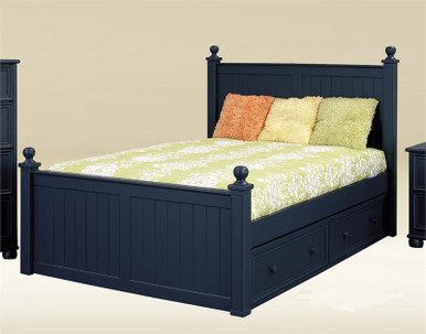Bentley Navy Blue Full Size Bed Youth Beds
