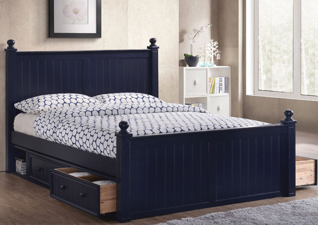 Dillon Queen Bead Board Wood Bed Queen Bed With Trundle