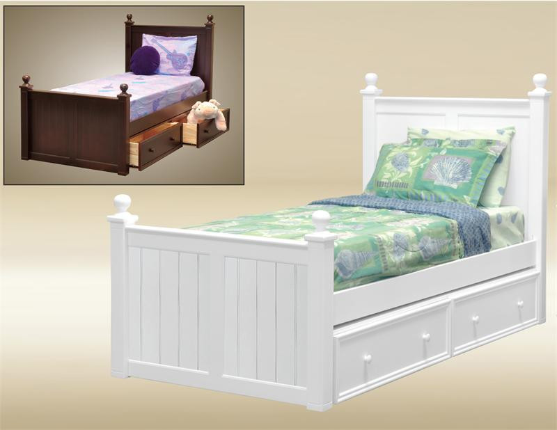 Dillon Extra Long Twin Wood Bead Board Bed Xl Beds With