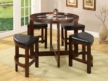 Crystal Cove Glass Counter Table & Stools