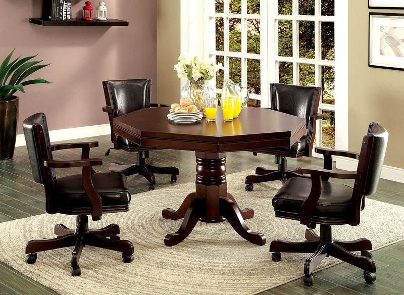 Vegas Octagonal Cherry Dining Game Room Table