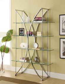 Contemporary Metal Tempered Glass Shelf