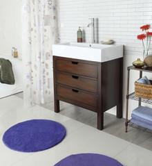 Cherry Single Sink Cabinet w/ Drawers