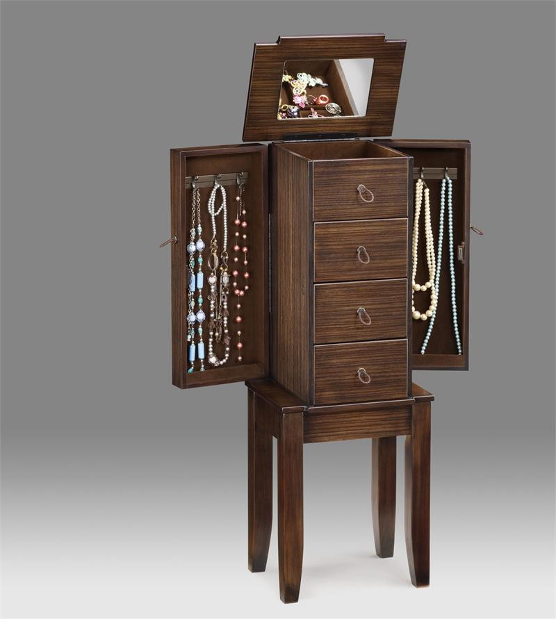 13 espresso jewelry armoires small mirrored jewelry armoire. Black Bedroom Furniture Sets. Home Design Ideas