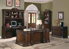Rich Brown Deluxe Office Desk