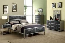 Largo Silver Dark Gray Full Metal Bed