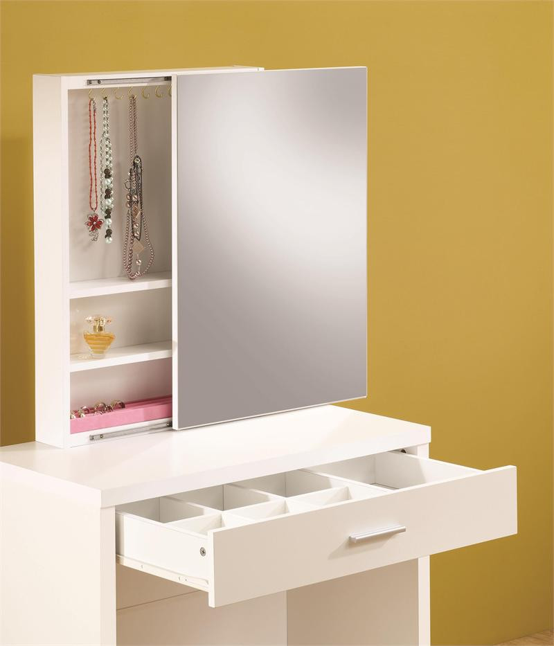 white sets vanity table girls pink by desks life set xiorex w seat fronts line bedroom vinyl mirror tango