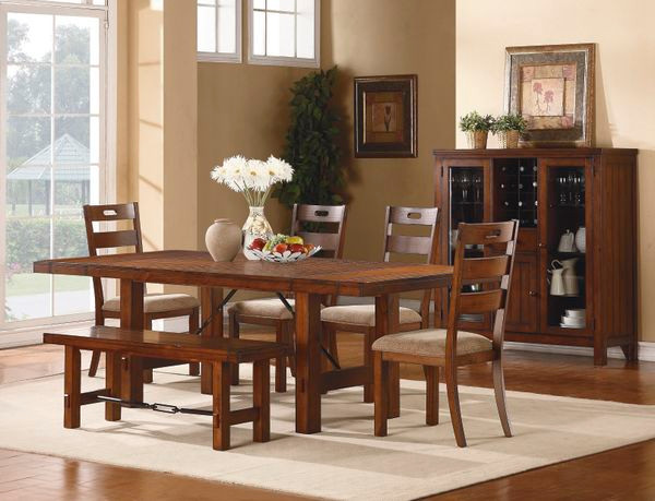 96 atkinson dark oak dining table set - Dark Oak Dining Table