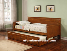 Twin Oak Day Bed With Under Bed Trundle